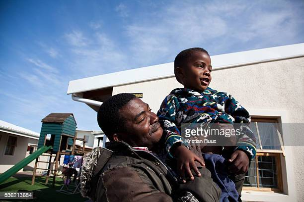 The Stars Foundation visiting Home from Home in Cape Town South Africa Here a father is visiting his son at one of the homes The father and son live...