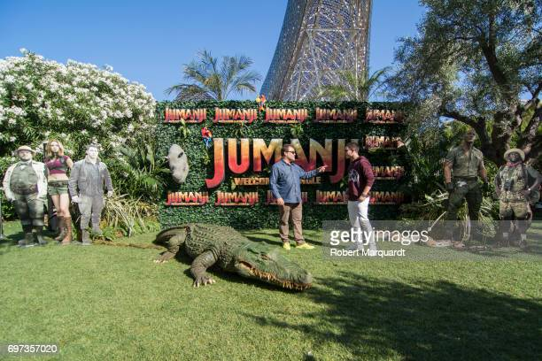 The stars of 'JUMANJI WELCOME TO THE JUNGLE' actors Jack Black and Nick Jonas appear in Barcelona on the occasion of the CineEurope event on June 18...