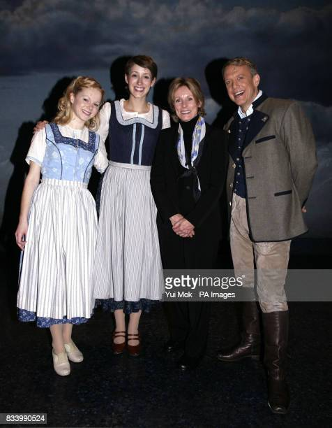 The stars of the musical Connie Fisher Amy Lennox and Simon Burke are joined by Charmian Carr during a photocall to celebrate the DVD release of The...