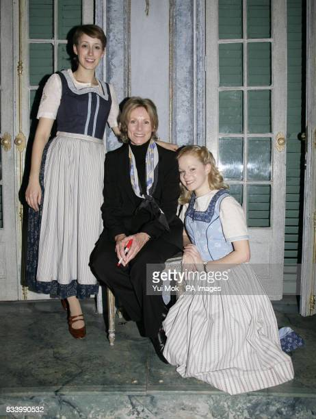 The stars of the musical Connie Fisher Amy Lennox are joined by Charmian Carr during a photocall to celebrate the DVD release of The Sound of Music...