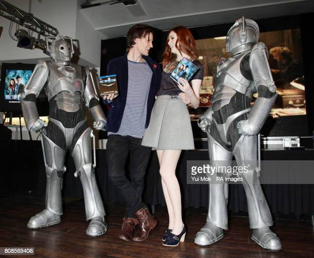 The stars of the show Matt Smith and Karen Gillan during an instore signing for the DVD boxset of BBC1 TV show Dr Who in central London
