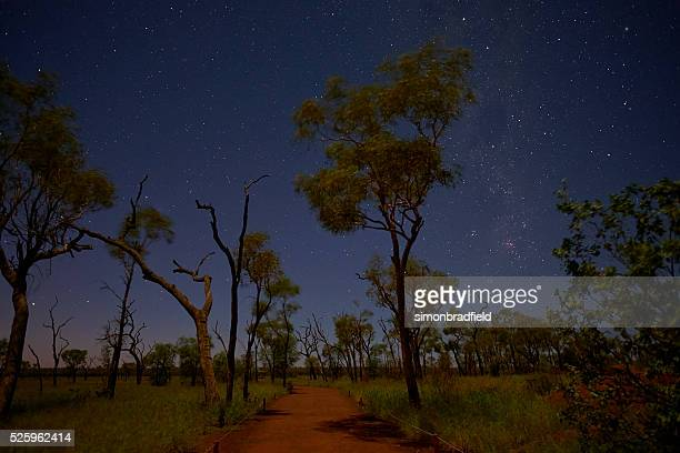 The Stars Over Uluru Landscape