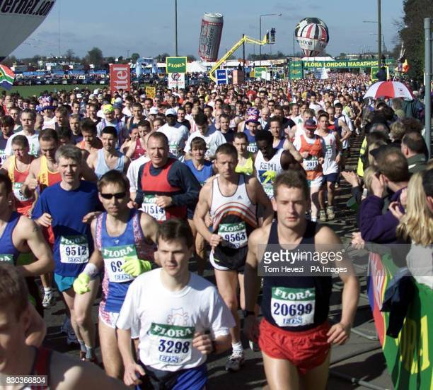 The start from Blackheath London of the Men's Event of the Flora London Marathon 2000