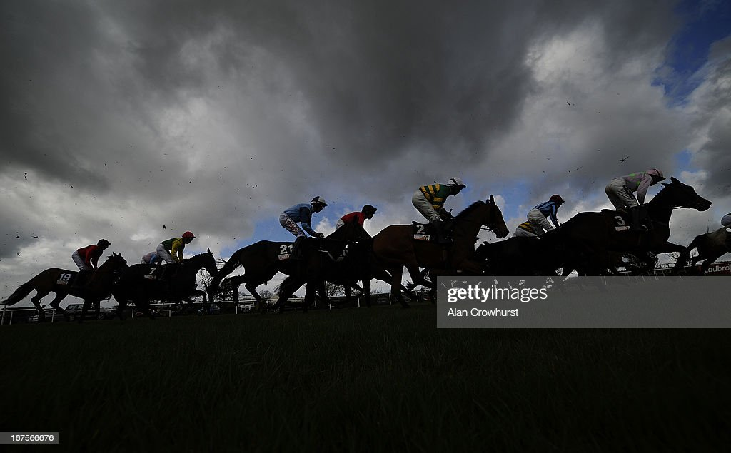 The start of the Breakfast with Hector on 2FM Handicap Chase at Punchestown racecourse on April 26, 2013 in Naas, Ireland.
