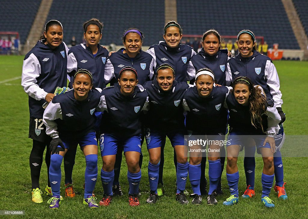 The starting 11 for Guatemala pose before a match against the United States during the 2014 CONCACAF Women's Championship at Toyota Park on October 17, 2014 in Bridgeview, Illinois. The United States defeated Guatemala 5-0.