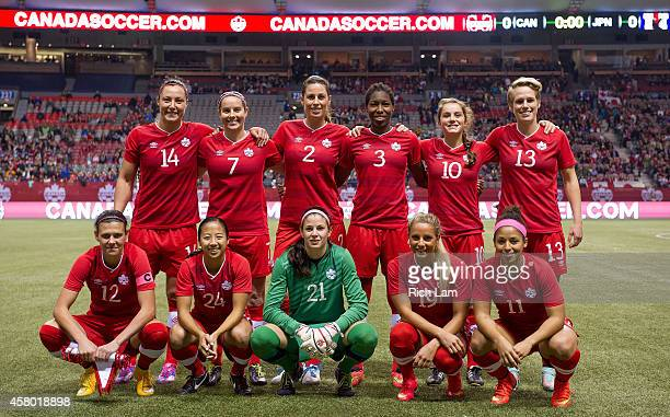 The starting eleven for Team Canada in Women's International Soccer Friendly Series against Japan on October 28 2014 at BC Place Stadium in Vancouver...