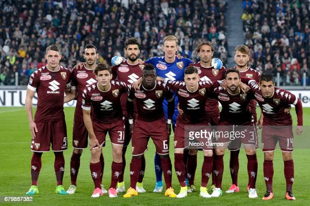 The starting eleven of Torino FC pose for a team photo prior to the Serie A football match between Juventus FC and Torino FC Final result is 11