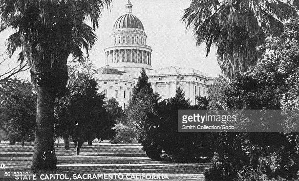 The State Capitol building in Sacramento the dome and neo classical building exterior Sacramento California 1943
