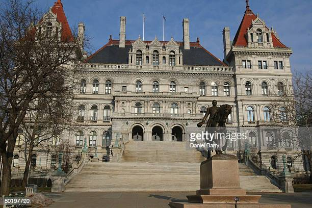 The State Capitol is seen March 11 2008 in Albany New York New York Gov Eliot Spitzer apologized to his family and the public in a news conference...
