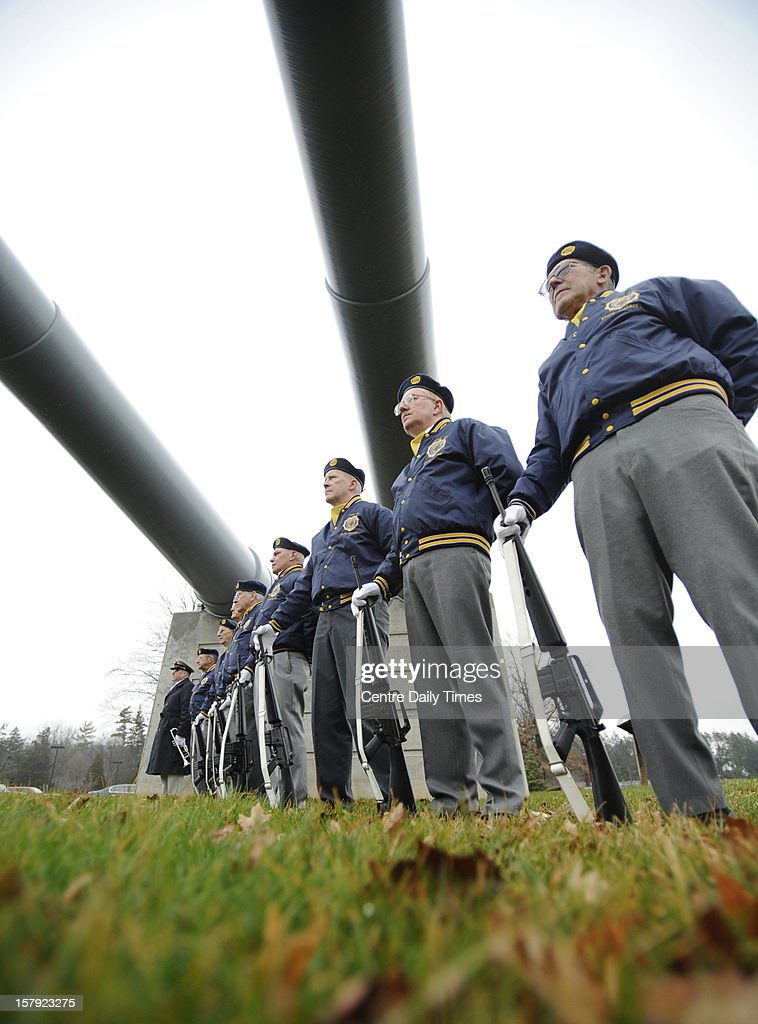 The State College American Legion Post 245 honor guard stands at attention during the ceremony as Friday, December 7, 2012 is Pearl Harbor Remembrance Day and a ceremony was held at the Pennsylvania Military Museum, in Boalsburg, Pennsylvania.