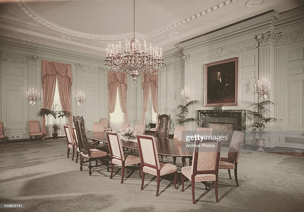 The State Dining Room In White House Washington DC Circa 1962