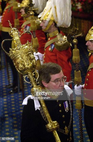 The State Opening Of Parliament House Of Lords Palace Of Westminster London The Mace Being Carried In The Procession