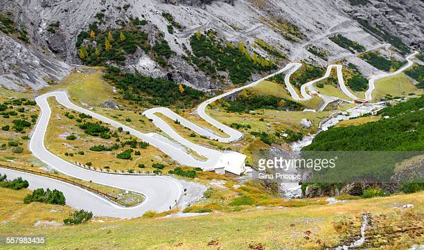The state road to the Pass Stelvio
