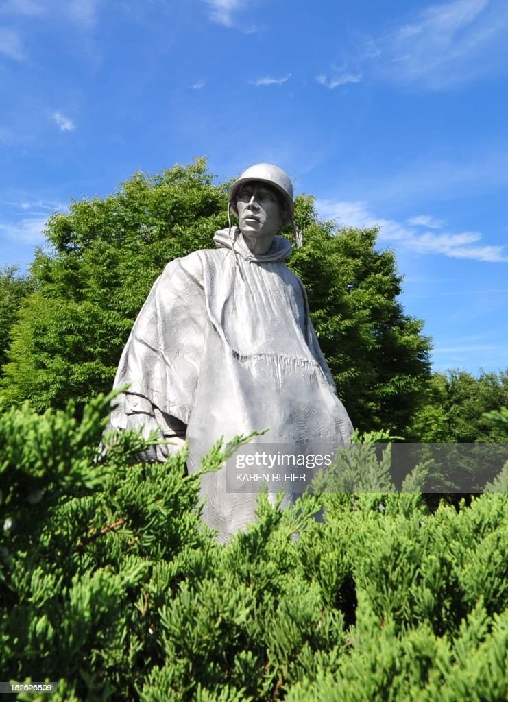 The statue of a soldier is seen at the KOrean War Memorial September 20 2012 in Washington DC AFP PHOTO / Karen BLEIER