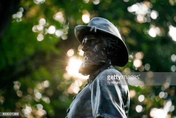 The statue of Confederate General Thomas Stonewall Jackson stands at the West Virginia State Capitol Complex on August 16 2017 in Charleston West...