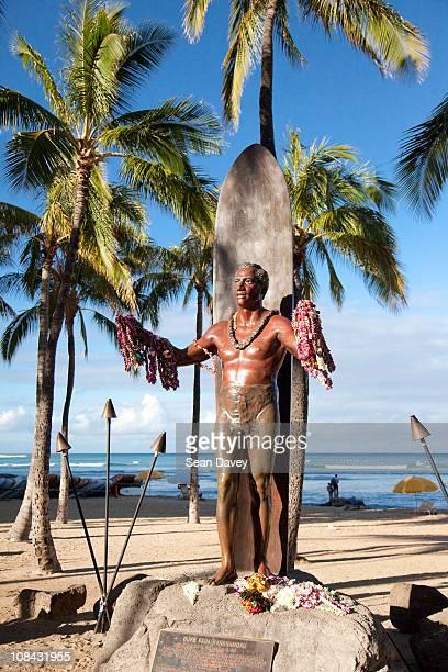 The statue of Duke Kohanamoku at Waikii beach.