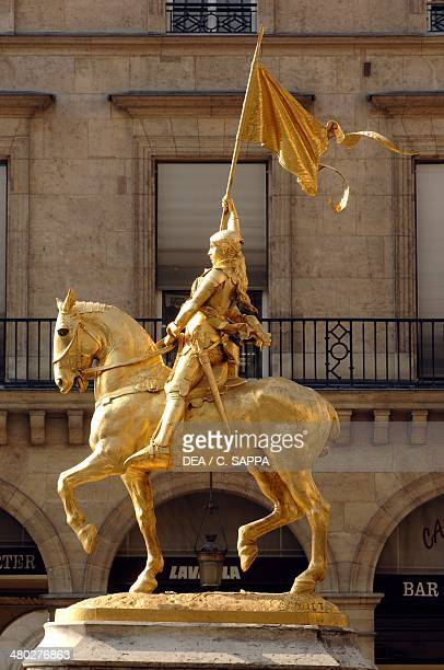 The statue of Joan of Arc by Emmanuel Fremiet Place des Pyramides Paris France
