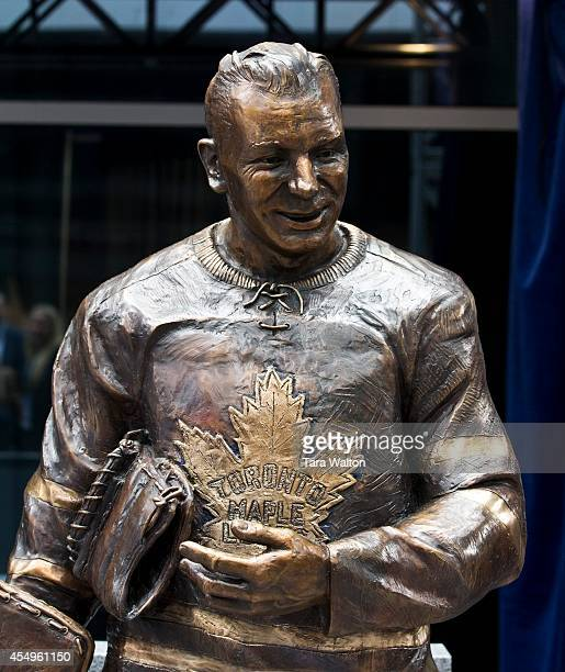 The statue of Johnny Bower Former Toronto Maple Leafs Ted Kennedy Johnny Bower and Darryl Sittler were the first three Leafs honoured with statues on...