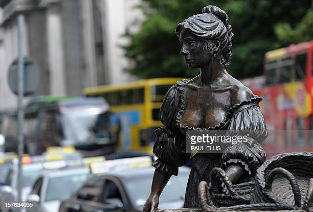 The statue of Molly Malone is pictured in Grafton Street Dublin Ireland on May 20 2011 AFP PHOTO / PAUL ELLIS