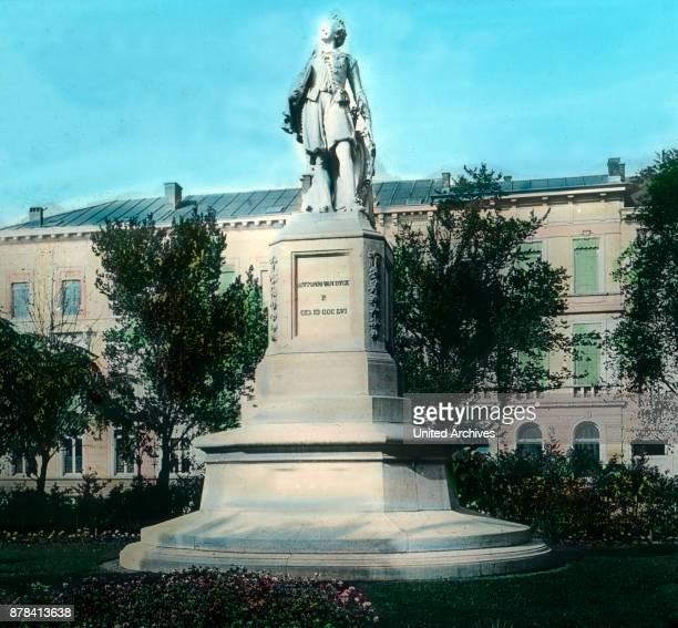 The statue of painter Anton van Dyck in the city of Antwerp