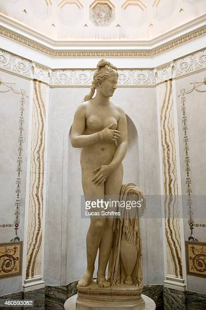 The statue of the Capitoline Venus is on display in the Capitoline Museums on August 19 in Rome Italy Rome the capital of Italy was legendarily...