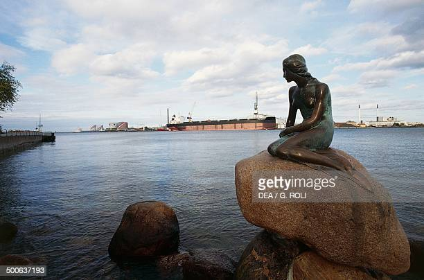 The statue of the Little Mermaid at the entrance to the harbour by Edward Eriksen Copenhagen Denmark
