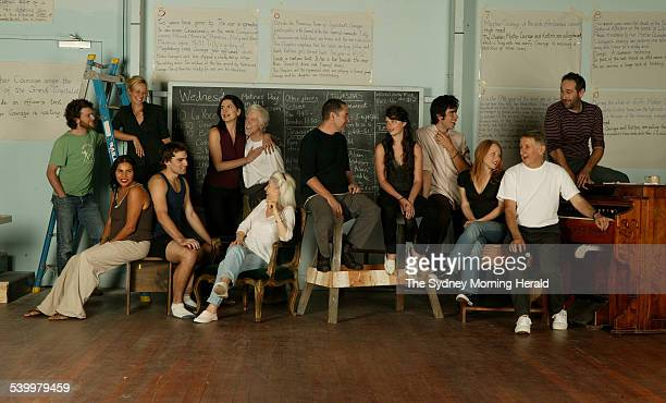 The STC Actors' Company left to right at back Dan Spielman Marta Dusseldorp Pamela Rabe Peter Carroll Eden Falk and Colin Moody Front seated left to...