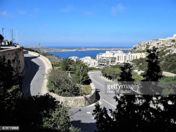 The steep streets of Malta