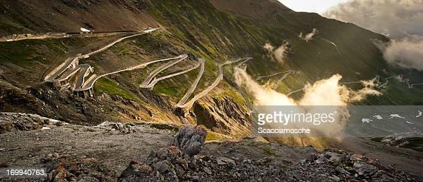 The Stelvio road