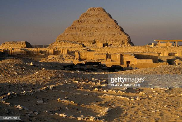 The stepped pyramid of Djoser at Saqqara Memphis Egypt Egyptian civilisation Old Kingdom Dynasty III