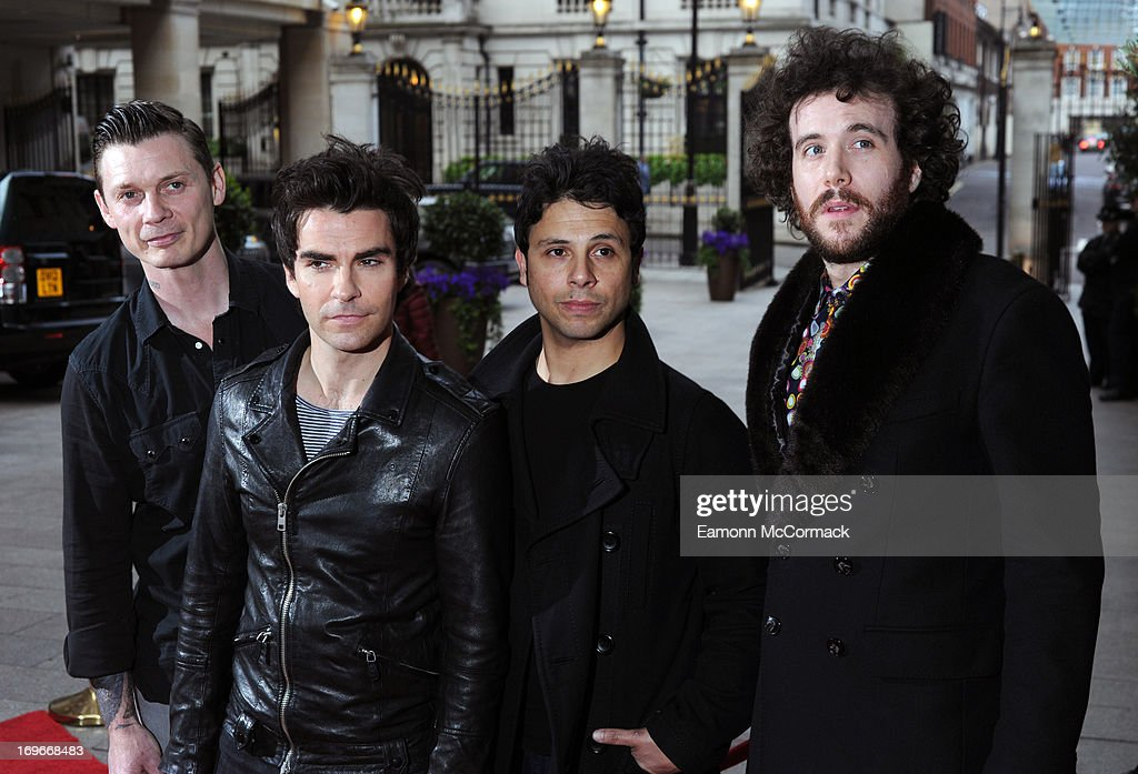 The Stereophonics attend Walking With The Wounded Crystal Ball Gala Dinner at The Grosvenor House Hotel on May 30, 2013 in London, England.