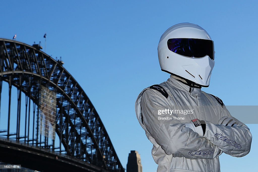 The Stig poses at Campbell's Cove Boardwalk ahead of the Inaugural Top Gear Festival Sydney this weekend, on March 7, 2013 in Sydney, Australia.