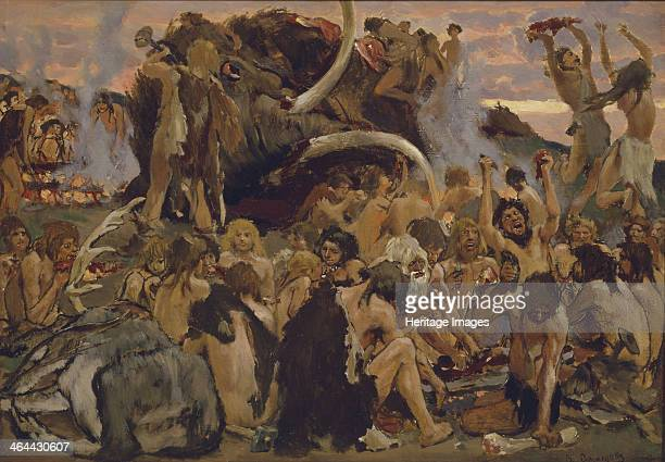 The Stone Age A Feast 1883 Found in the collection of the State Tretyakov Gallery Moscow