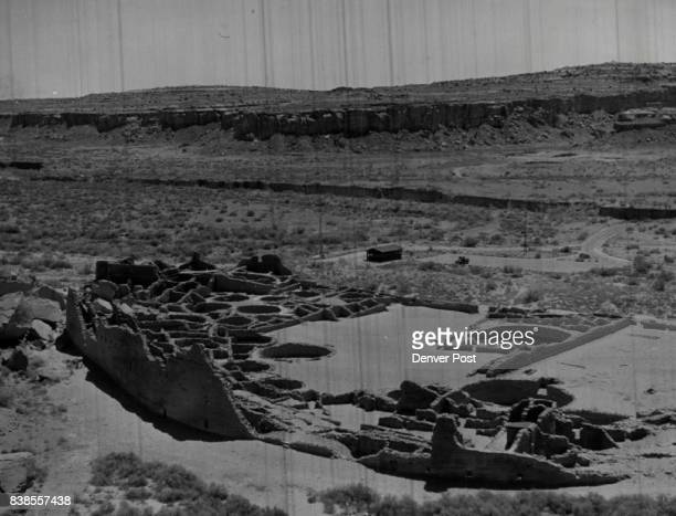 The stone ruins of Pueblo Bonito world's largest apartment house before 1887 stand as a silent reminder of a civilization that failed largely because...