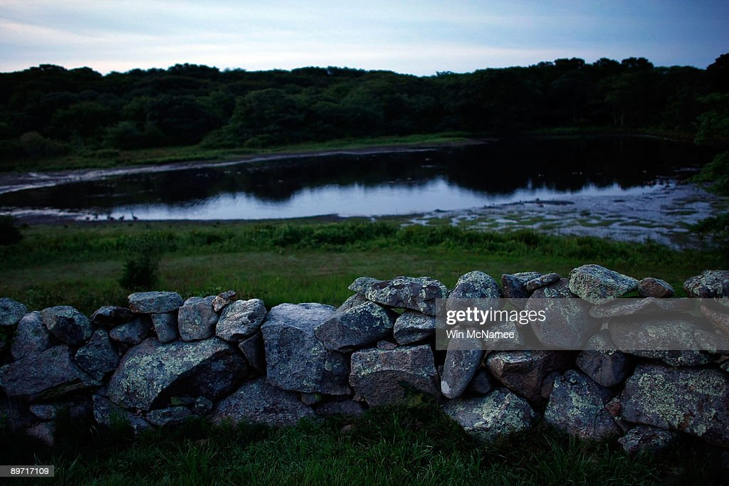 The stone walls of Chilmark are seen at sunrise August 7, 2009 in Chilmark, Massachusetts on the island of Martha's Vineyard. President Barack Obama and his family will visit Martha's Vineyard and stay at the Blue Heron Farm off South Road in Chilmark while on vacation during the last week of August.