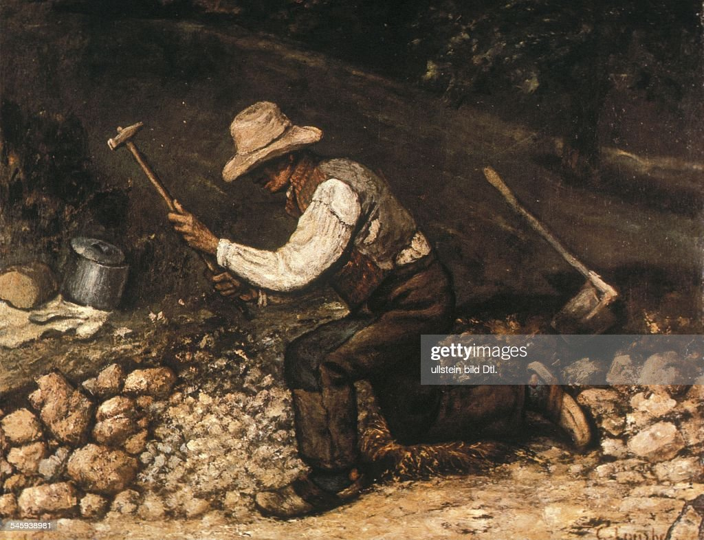 STONEBREAKERS 'The Stonebreakers' Oil on canvas by Gustave Courbet