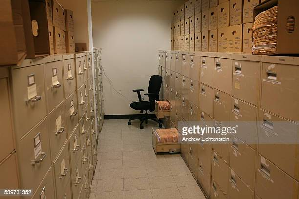The storage room at the Legal AId office in Brooklyn where casr files are kept Legal Aid one of the oldest nonprofit organizations in the country...