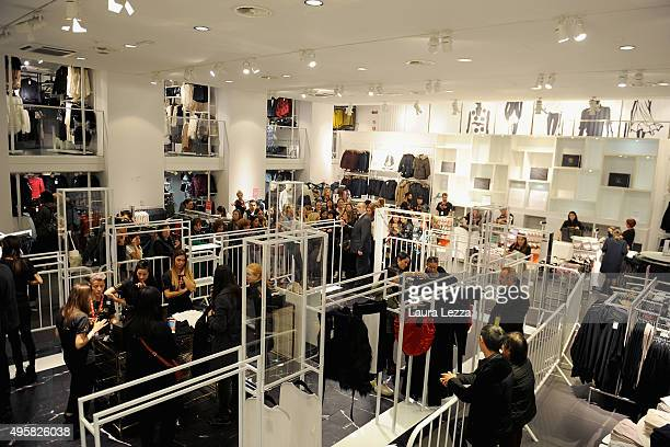 The store is emptied by customers during the HM during the Balmain For HM Collection Launch near Piazza della Signoria on November 5 2015 in Florence...