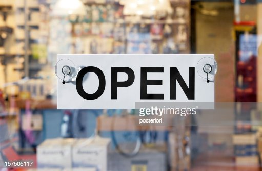 The store is open