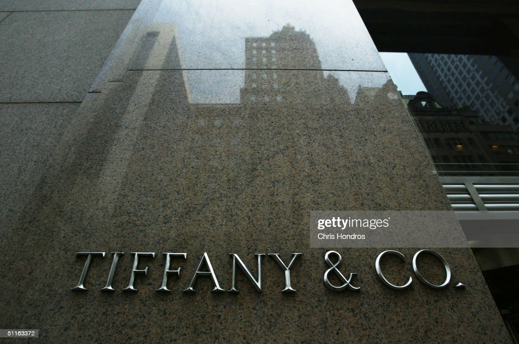 The storefront of Tiffany Co August 12 2004 in New York City The luxury jeweler announced on August 12 that quarterly profit fell 11 percent pulled...