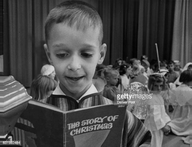 The story of Christmas Richard Giardini son of Mr and Mrs James Giardini 7220 E 12th Ave narrates the Biblical Christmas story during first grade...