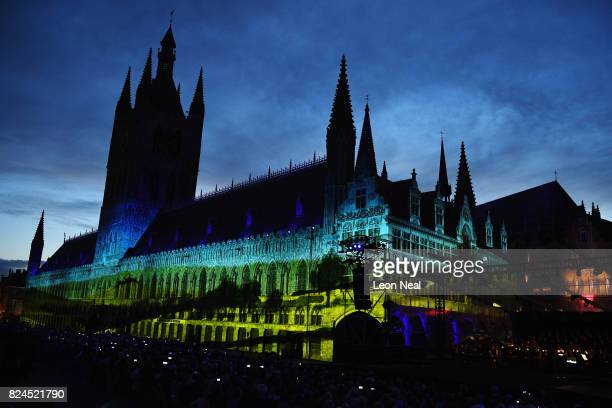 The story of the war in the Ypres region is told by performances and music set to a backdrop of visual projections on the facade of the Cloth Hall...
