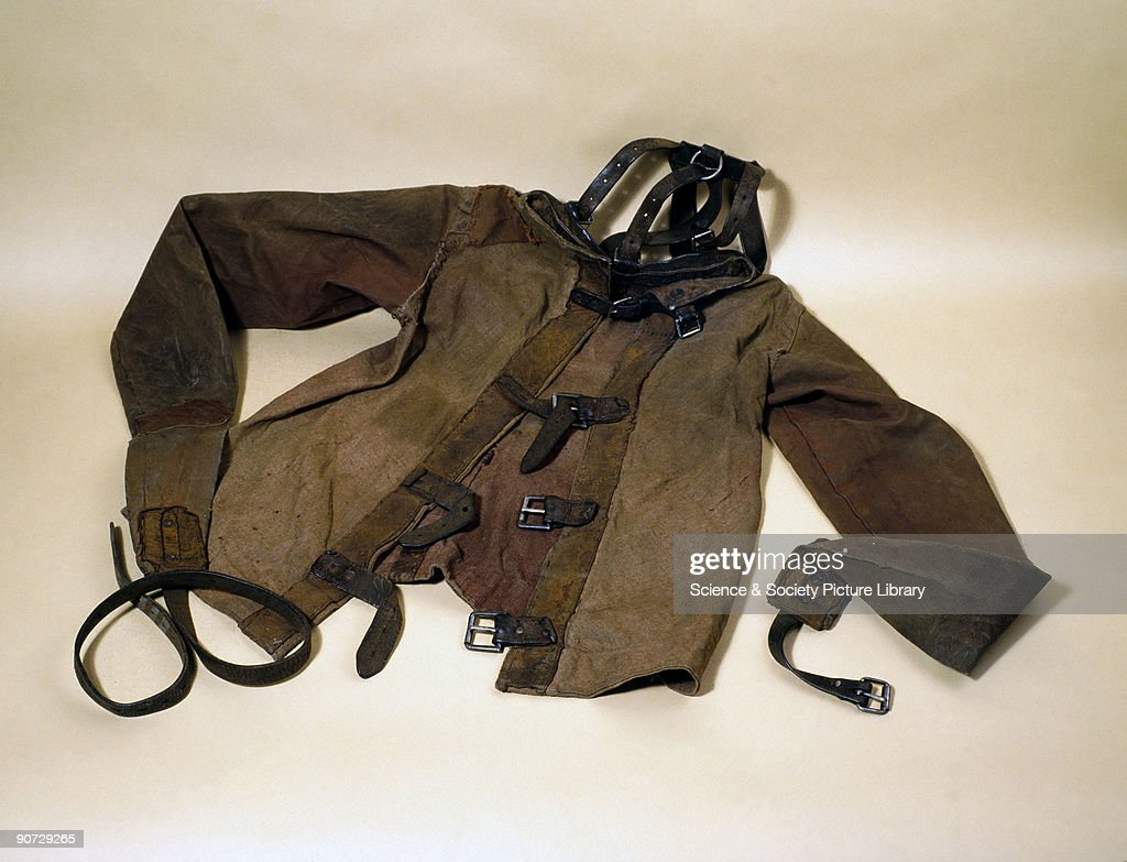 Canvas and leather strait jacket, c 1930. Pictures | Getty Images
