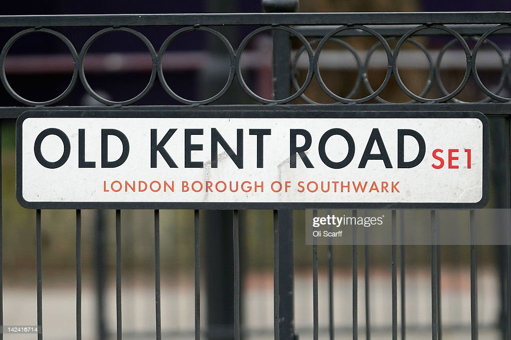 The street sign for Old Kent Road, which features on the London version of the Monopoly board game, on April 4, 2012 in London, England.