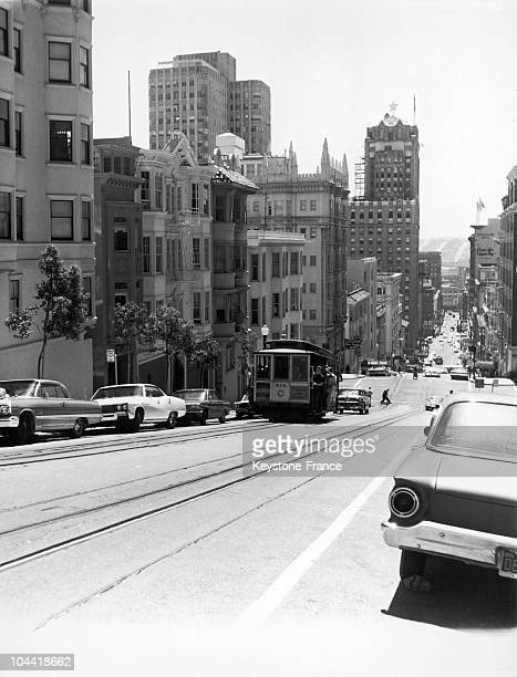 The Streetcar Number 518 In San Francisco'S Street In 1967