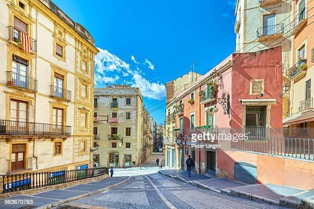 The streets of Tarragona city, Spain