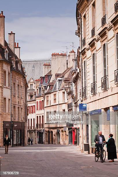 The streets of the old city of Dijon.