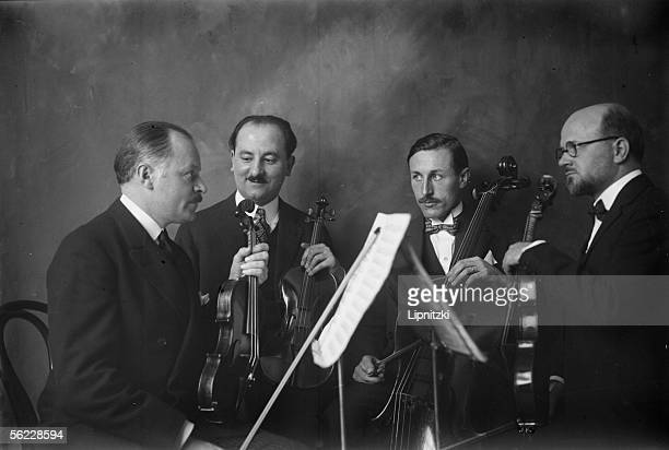The string quartet founded by Maurice Hewitt French violinist and conductor on 1928