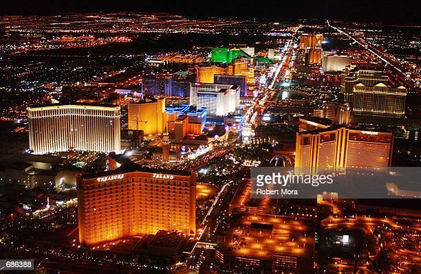 The strip on Las Vegas Boulevard is seen on May 30 2002 in Las Vegas Nevada