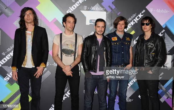 The Strokes arrive for the TMobile Sidekick 4G launch celebration in a Private Lot on April 20 2011 in Beverly Hills California